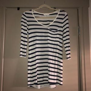 Tops - White and Blue Striped CAbi Top!
